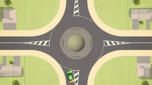 Giving way at roundabouts